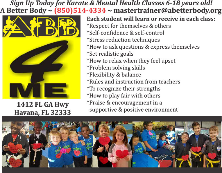 Please call 850-514-4334 for more information on our Karate and Fitness Programs